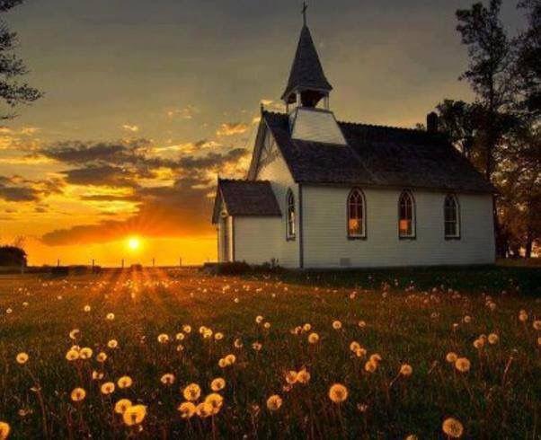 church-sunrays